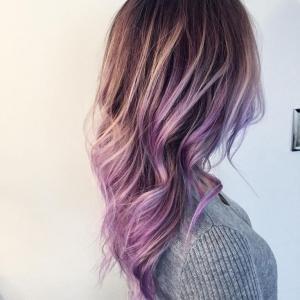 cheveux balayage couleur pastle