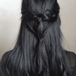 couleur cheveux gris acier