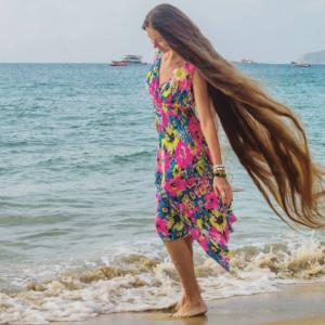Chevelure longue comme Raiponce