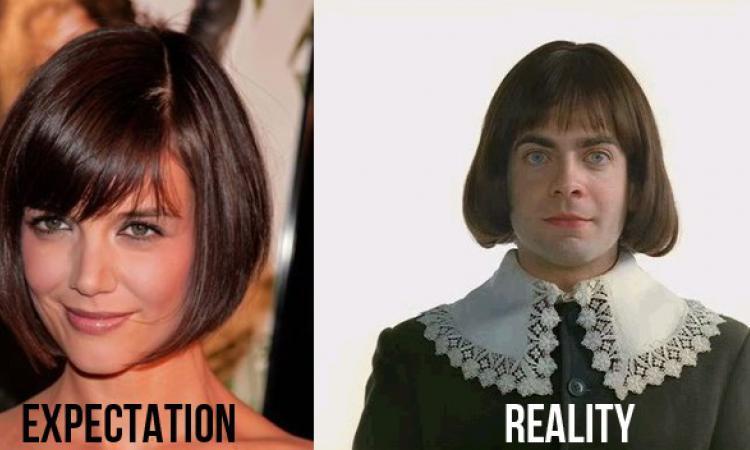 coiffure humoristique reve vs realite
