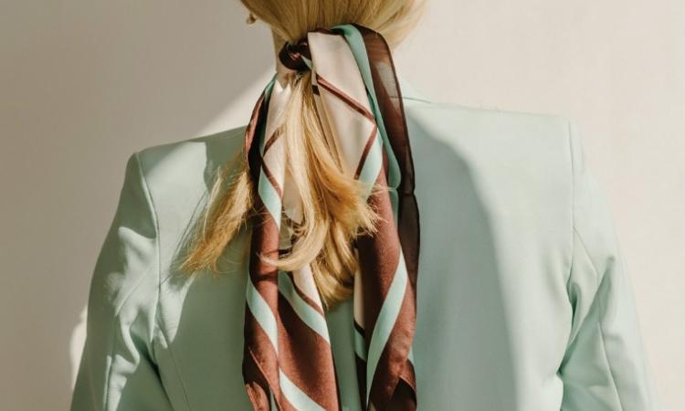 Foulard accessoire cheveux tendance