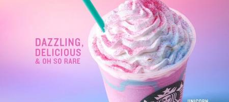 coiffure unicorn frappuccino hair starbucks