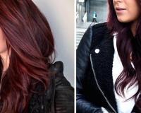 Couleur cheveux rouge burgundy