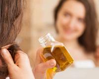 huile vegetale en soin pour les cheveux