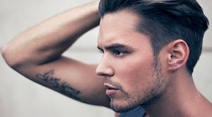 coiffure homme cheveux gomines