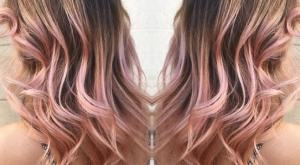 balayage cheveux rose