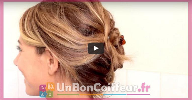 Tutoriel Pour Realiser Un Chignon Flou Sur Cheveux Courts