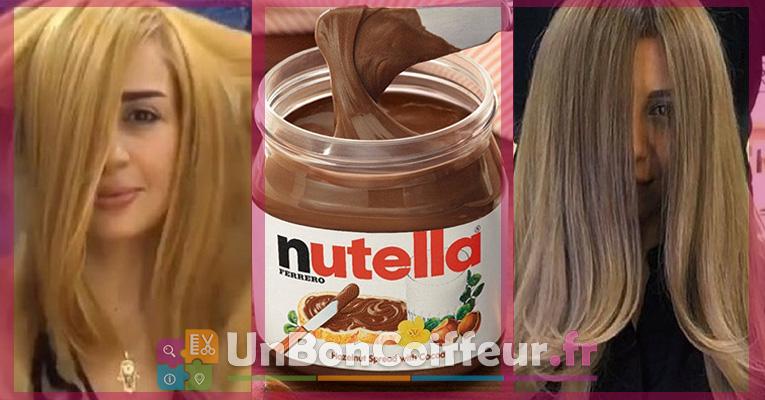 Colorer ses cheveux naturellement avec du nutella for Salon de coiffure dubai