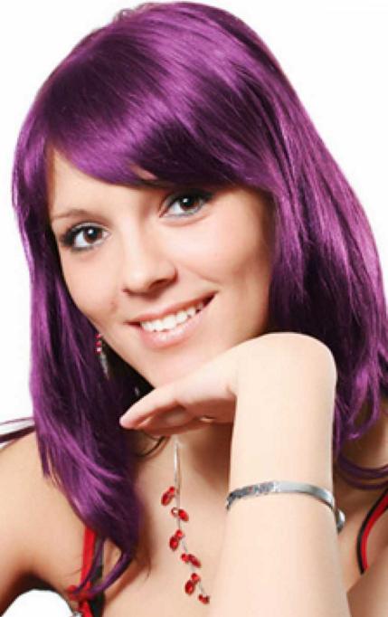 couleur cheveux violet - Coloration Cheveux Violine