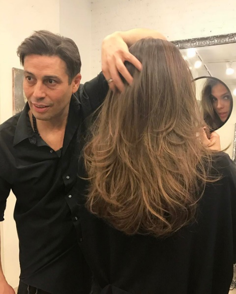 nouvelle couleur de cheveux Iris Mattenaere