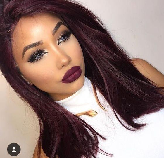 Couleur de cheveux rouge sur du brun