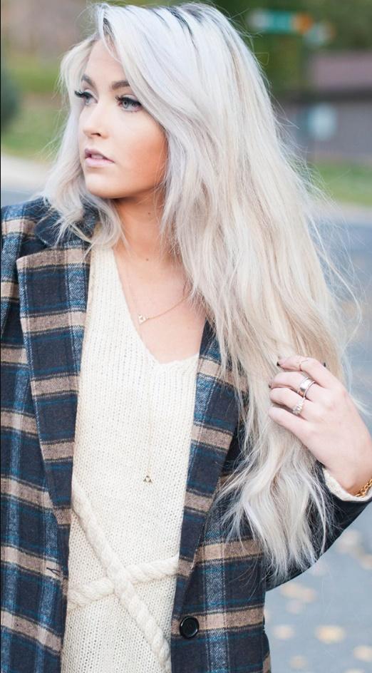 Coloration des cheveux blanc