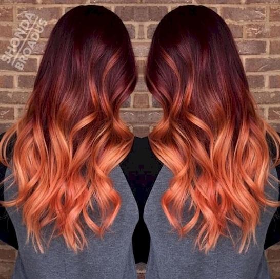 Teinture pour les cheveux des femmes en deux couleurs