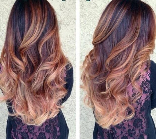 Teinture pour cheveux Г la mode en deux couleurs