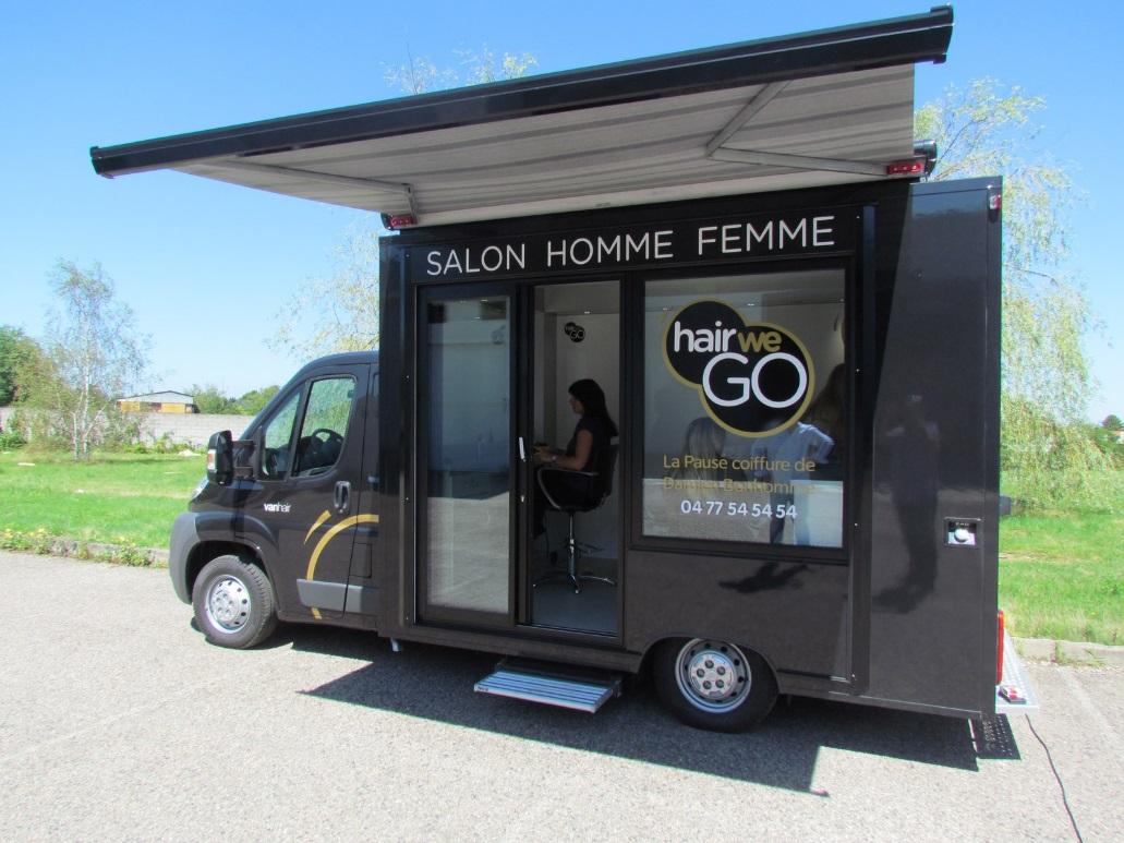 Le concept hair we go un salon de coiffure mobile for Playmobil salon de coiffure