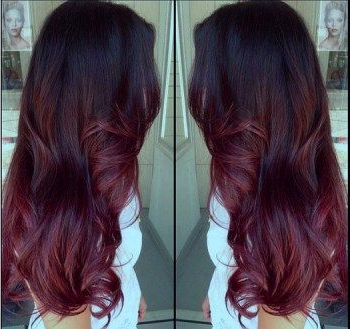 Le ombr hair rouge proche du tie and dye 33 mod les de coloration ombr hair rouge cerise - Coupe ombre hair ...