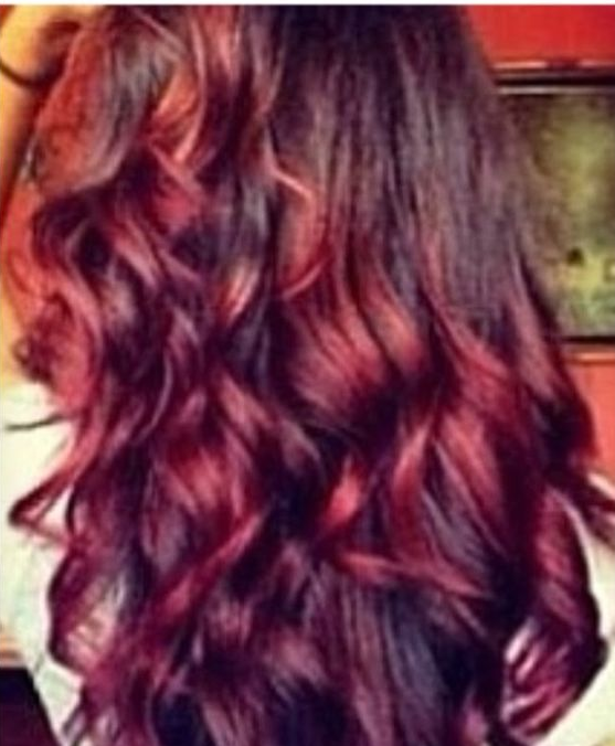 Coloration ombré hair rouge