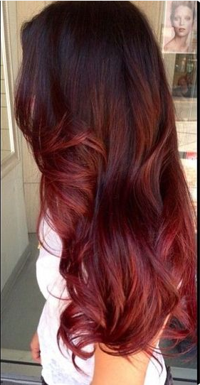 Le ombru00e9 hair rouge proche du tie and dye. 33 Modu00e8les de coloration ombru00e9 hair rouge cerise ...